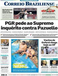 Capa do jornal Correio Braziliense 24/01/2021