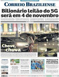 Capa do jornal Correio Braziliense 25/09/2021