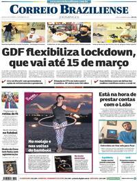 Capa do jornal Correio Braziliense 28/02/2021