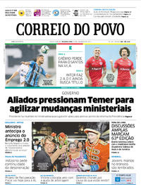 Capa Correio do Povo 2017-11-20