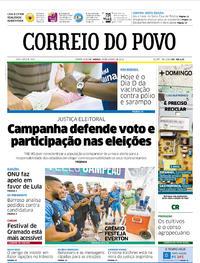 Capa Correio do Povo 2018-08-18