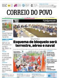 Capa Correio do Povo 2018-01-23