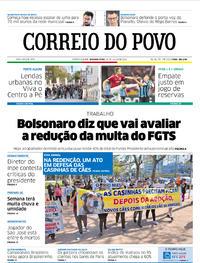 Capa Jornal Correio do Povo