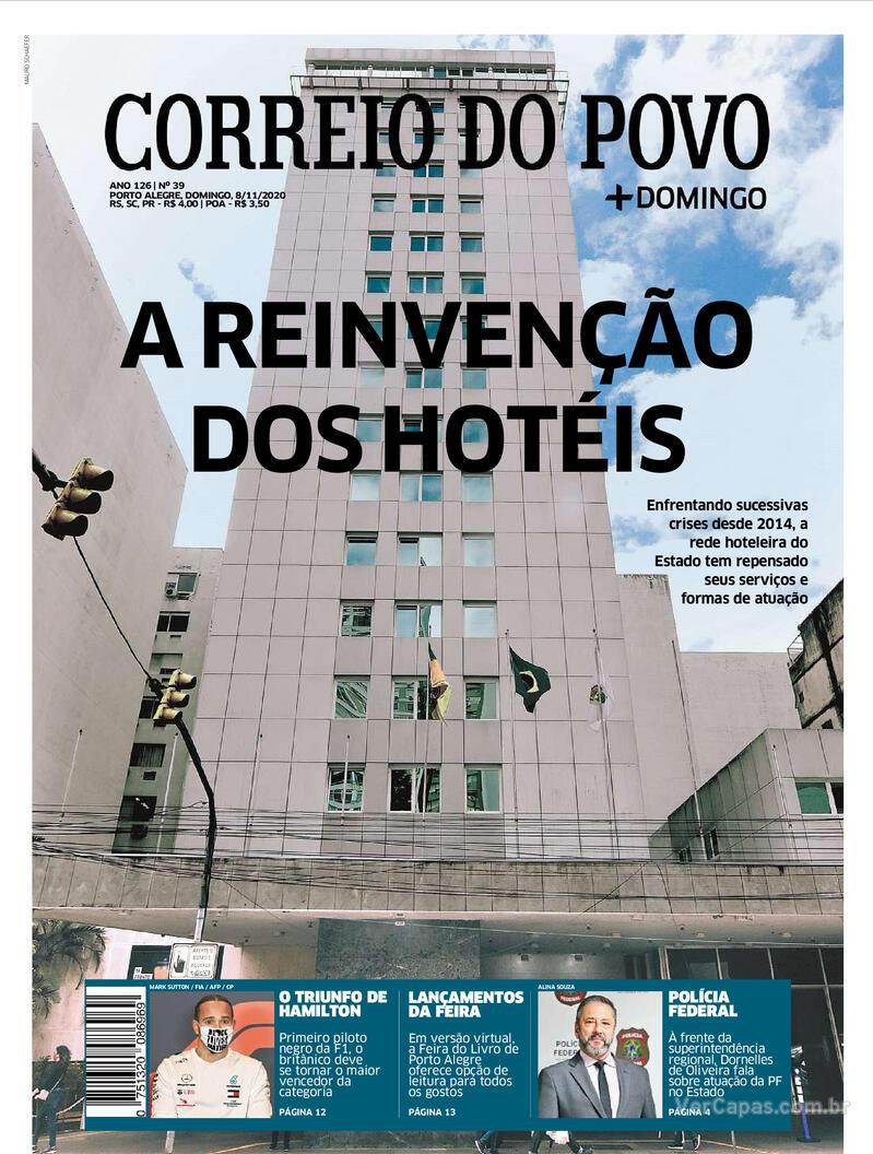 Capa do jornal Correio do Povo 08/11/2020