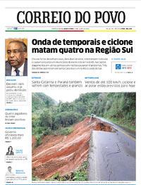 Capa do jornal Correio do Povo 01/07/2020