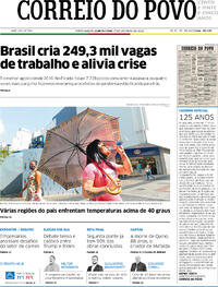 Capa do jornal Correio do Povo 01/10/2020