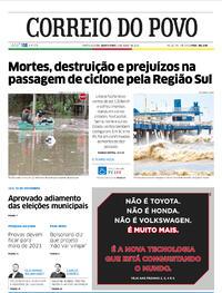 Capa do jornal Correio do Povo 02/07/2020
