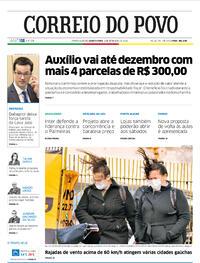 Capa do jornal Correio do Povo 02/09/2020