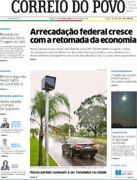Capa do jornal Correio do Povo 02/10/2020