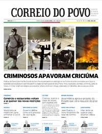 Capa do jornal Correio do Povo 02/12/2020
