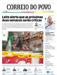 Capa do jornal Correio do Povo 03/07/2020