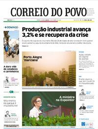 Capa do jornal Correio do Povo 03/10/2020