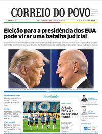 Capa do jornal Correio do Povo 03/11/2020