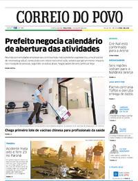 Capa do jornal Correio do Povo 04/08/2020