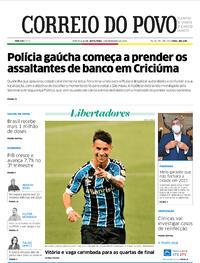 Capa do jornal Correio do Povo 04/12/2020