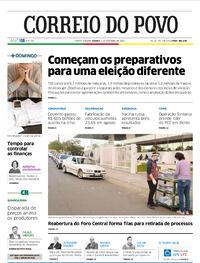 Capa do jornal Correio do Povo 05/09/2020