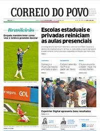 Capa do jornal Correio do Povo 05/10/2020