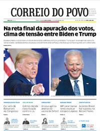 Capa do jornal Correio do Povo 05/11/2020