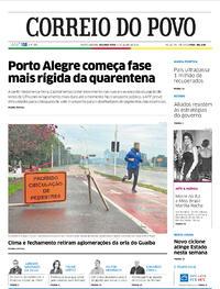 Capa do jornal Correio do Povo 06/07/2020