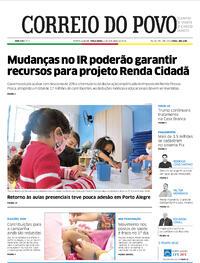 Capa do jornal Correio do Povo 06/10/2020