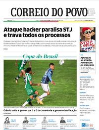 Capa do jornal Correio do Povo 06/11/2020