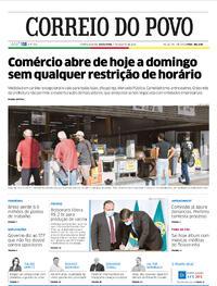 Capa do jornal Correio do Povo 07/08/2020