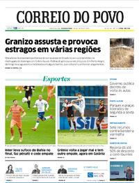 Capa do jornal Correio do Povo 07/09/2020