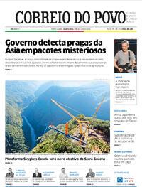 Capa do jornal Correio do Povo 07/10/2020