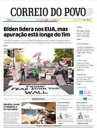 Capa do jornal Correio do Povo 07/11/2020