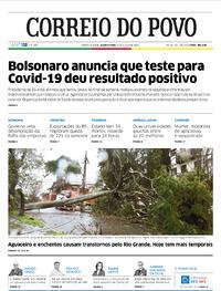 Capa do jornal Correio do Povo 08/07/2020