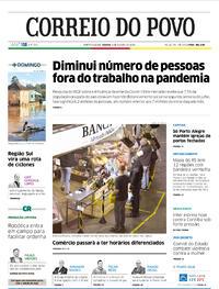 Capa do jornal Correio do Povo 08/08/2020