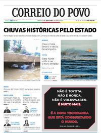 Capa do jornal Correio do Povo 09/07/2020