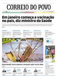 Capa do jornal Correio do Povo 09/09/2020