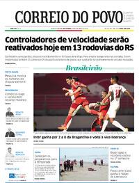 Capa do jornal Correio do Povo 09/10/2020