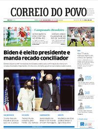 Capa do jornal Correio do Povo 09/11/2020