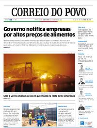 Capa do jornal Correio do Povo 10/09/2020
