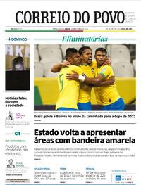 Capa do jornal Correio do Povo 10/10/2020