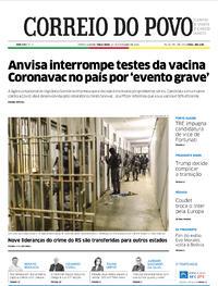 Capa do jornal Correio do Povo 10/11/2020