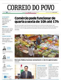 Capa do jornal Correio do Povo 11/08/2020