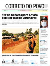 Capa do jornal Correio do Povo 11/11/2020