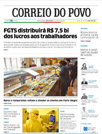 Capa do jornal Correio do Povo 12/08/2020