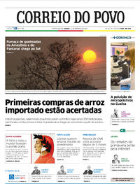 Capa do jornal Correio do Povo 12/09/2020
