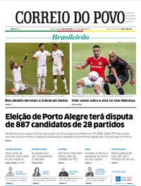Capa do jornal Correio do Povo 12/10/2020