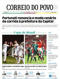 Capa do jornal Correio do Povo 12/11/2020