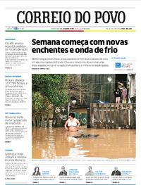 Capa do jornal Correio do Povo 13/07/2020
