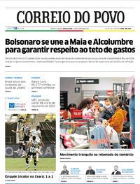 Capa do jornal Correio do Povo 13/08/2020
