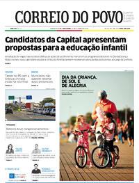 Capa do jornal Correio do Povo 13/10/2020