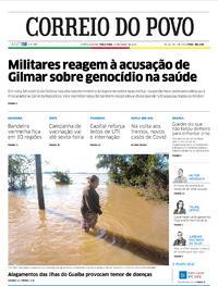 Capa do jornal Correio do Povo 14/07/2020