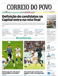 Capa do jornal Correio do Povo 14/09/2020