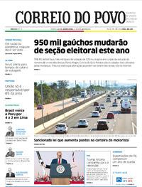 Capa do jornal Correio do Povo 14/10/2020